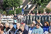 Nederland, Groesbeek, 17-9-2014herdenking van de luchtlanding door Amerikaanse parachutisten onder leiding van generaal  James Gavin ihkv operatie marketgarden in september 1944. Het is de laatste officiele herdenking met veteranen. Bij het Airborne monument werden kransen gelegd door o.a Burgemeester Keereweer, generaal Nicolson van de 82nd airborne, de twee dochters van generaal Gavin, de burgemeester van Kranenburg in Duitsland en de toenmalige Binnenlandse strijdkrachten.FOTO: FLIP FRANSSEN/ HOLLANDSE HOOGTE