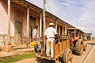 Tractor in Rodas, Cienfuegos, Cuba.