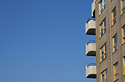 balconies and blue sky