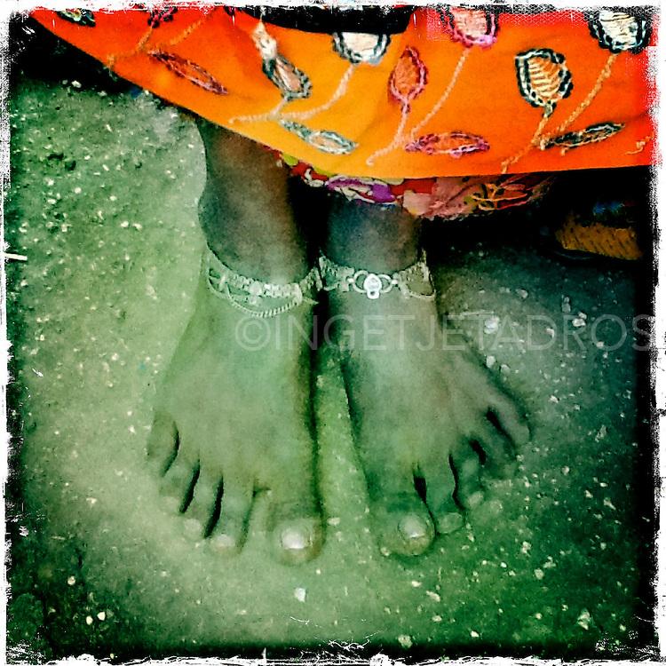 orange and feet