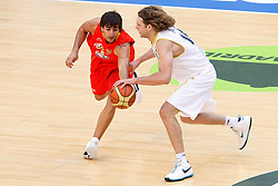 15.08.2010, Logroo, ESP, Friendly Basketball LS, Spain vs Argentia, im Bild Argentina's Pancho Jasen (r) and Spain's Ricky Rubio during Friendly match. EXPA Pictures © 2010, PhotoCredit: EXPA/ Alterphotos/ Acero +++++ ATTENTION - OUT OF SPAIN +++++