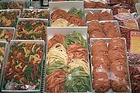 October 1992, Alba, Italy --- Pasta on Display --- Image by © Owen Franken/CORBIS
