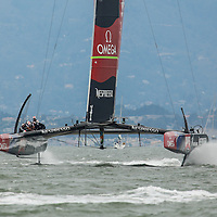 Emirates Team New Zealand during the Louis Vuitton Cup Round Robin 4.  Emirates Team New Zealand defeats Luna Rosa Challenge