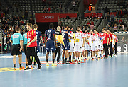 Players after the EHF 2018 Men's European Championship, 1/2 final Handball match between France and Spain on January 26, 2018 at the Arena in Zagreb, Croatia - Photo Laurent Lairys / ProSportsImages / DPPI