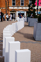 City Centre, Kingston Upon Hull, East Yorkshire, United Kingdom, 11 August, 2018. Pictured: Dominoes by Station House Opera, Produced by Artsadmin