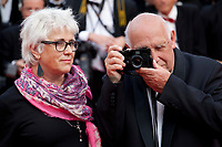 Raymond Depardon and Claudine Nougaret at Twin Peaks gala screening at the 70th Cannes Film Festival Thursday 25th May 2017, Cannes, France. Photo credit: Doreen Kennedy