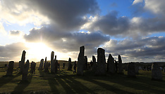 Summer Solstice sunset Callanish Standing Stones, Isle of Lewis, 21 June 2018