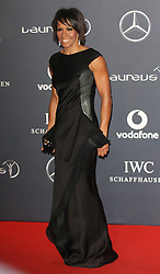 KELLY HOLMES arrives at the Laureus Sport Awards held at the Queen Elizabeth II Centre, London, Monday February 6, 2012. Photo By i-Images