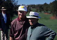 Jack Nicklaus and Gene Sarazen in 1996 <br /> <br /> Picture by Ian Garner