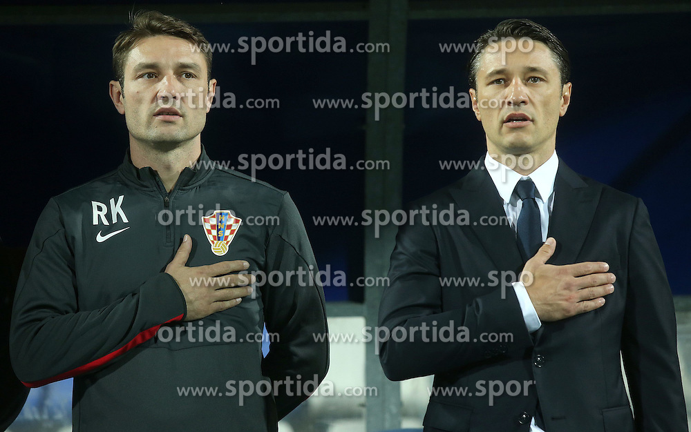 13.10.2014, Stadion Gradski vrt, Osijek, CRO, UEFA Euro Qualifikation, Kroatien vs Aserbaidschan, Gruppe H, im Bild Robert Kovac, Niko Kovac // during the UEFA EURO 2016 Qualifier group H match between Croatia and Azerbaijan at the Stadion Gradski vrt in Osijek, Croatia on 2014/10/13. EXPA Pictures &copy; 2014, PhotoCredit: EXPA/ Pixsell/ Igor Kralj<br /> <br /> *****ATTENTION - for AUT, SLO, SUI, SWE, ITA, FRA only*****