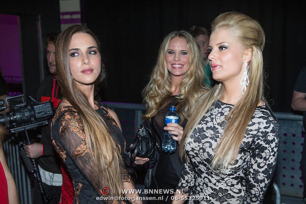 NLD/Amsterdam/20140201 - Uitverkiezing Playmate of the Year 2013, playmates Joy, Jolyn, Hester, Lien en Estrella
