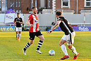Jake Taylor (25) of Exeter City on the attack during the EFL Sky Bet League 2 match between Exeter City and Lincoln City at St James' Park, Exeter, England on 17 May 2018. Picture by Graham Hunt.