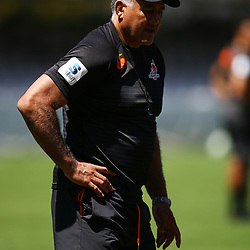 Jamie Joseph (Head Coach) of the Sunwolves during the HITO-Communications Sunwolves  Captains Run at Jonsson Kings Park ,Durban.South Africa. 09,03,2018 (Photo by Steve Haag)