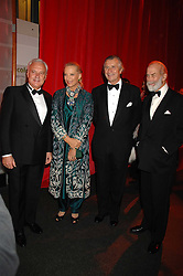 Left to right, BERNARD FORNAS, PRINCESS MICHAEL OF KENT, ARNAUD BAMBERGER and PRINCE MICHAEL OF KENT at a dinner held at the Natural History Museum to celebrate the re-opening of their store at 175-177 New Bond Street, London on 17th October 2007.<br />
