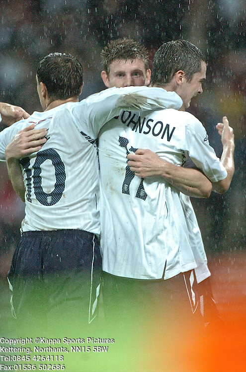 JAMES MILNER CELEBRATES HIS GOAL FOR ENGLAND, England-Portugal Under 21s, EEFA EUROPEAN Under 21 Championship, Wembley Stadium 5th September 2008