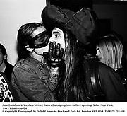 Jaye Davidson &amp; Stephen Meisel. James Danziger photo Gallery opening. Soho, New York. 1993. Film 93144f20<br />&copy; Copyright Photograph by Dafydd Jones<br />66 Stockwell Park Rd. London SW9 0DA<br />Tel 0171 733 010