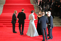 William Duke of Cambridge, Prince Harry, Kate Duchess of Cambridge, Barbara Broccoli, Sam Mendes, Michael G Wilson, Bond: Spectre - World Premiere & Royal Film Performance, Royal Albert Hall, London UK, 26 October 2015, Photo by Richard Goldschmidt