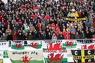 10.10.2009, Olympiastadion / Olympic Stadium, Helsinki, Finland..2010 MM-karsinta Suomi - Wales / FIFA World Cup 2010 Qualifying match Finland v Wales.Walesin kannattajat / Welsh fans.©Juha Tamminen.