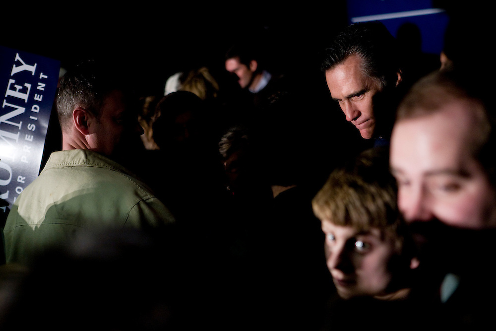 Former Massachusetts governor and Republican presidential hopeful Mitt Romney campaigns in Salem, N.H., on Monday, Jan. 7, 2008.