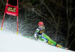 "Ana Drev (SLO) competes during 1st Run of the FIS Alpine Ski World Cup 2017/18 5th Ladies' Giant Slalom race named ""Golden Fox 2018"", on January 6, 2018 in Podkoren, Kranjska Gora, Slovenia. Photo by Ziga Zupan / Sportida"