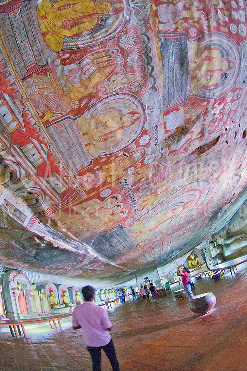 Alberto Carrera, Golden Temple of Dambulla, Dambulla Cave Temple, UNESCO World Heritage Site, Kandy Province, Sri Lanka, Asia<br />