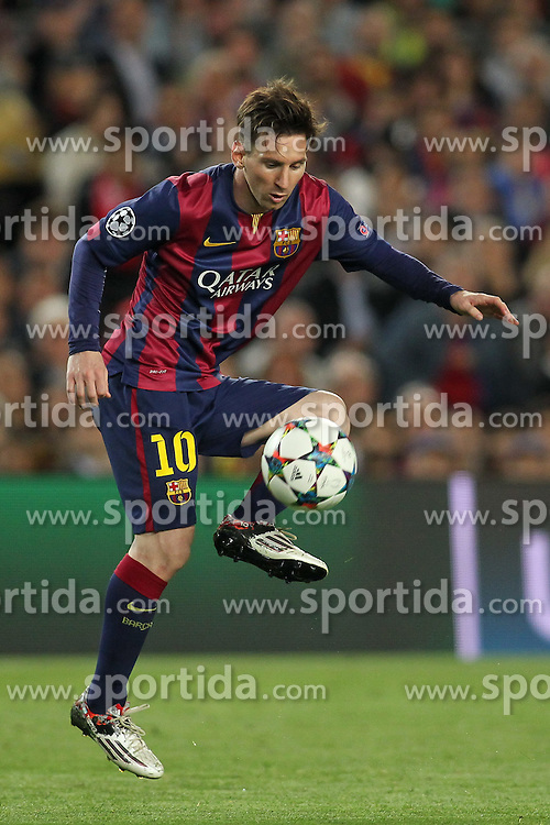 06.05.2015, Camp Nou, Barcelona, ESP, UEFA CL, FC Barcelona vs FC Bayern Muenchen, Halbfinale, Hinspiel, im Bild Lionel Messi (FC Barcelona #10) // during the UEFA Champions League semi finals 1st Leg match between FC Barcelona and FC Bayern Munich at the Camp Nou in Barcelona, Spain on 2015/05/06. EXPA Pictures &copy; 2015, PhotoCredit: EXPA/ Eibner-Pressefoto/ Schueler<br /> <br /> *****ATTENTION - OUT of GER*****