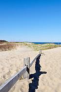 Coast Guard Beach fence in dunes Cape Cod National Seashore, Eastham