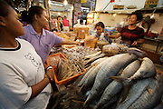 Chatuchak Sunday Market. Dried fish store.