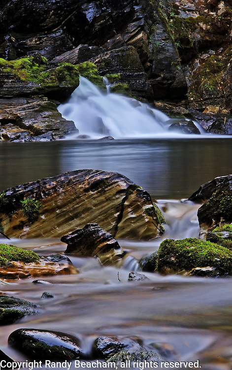 West Fork Falls at twilight. West Fork Yaak River, Yaak Valley Montana
