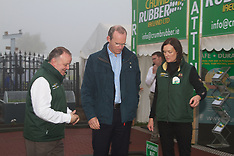 Crumb Rubber And Simon Coveney at National Ploughing Championships, at Ratheniska, Co. Laois.