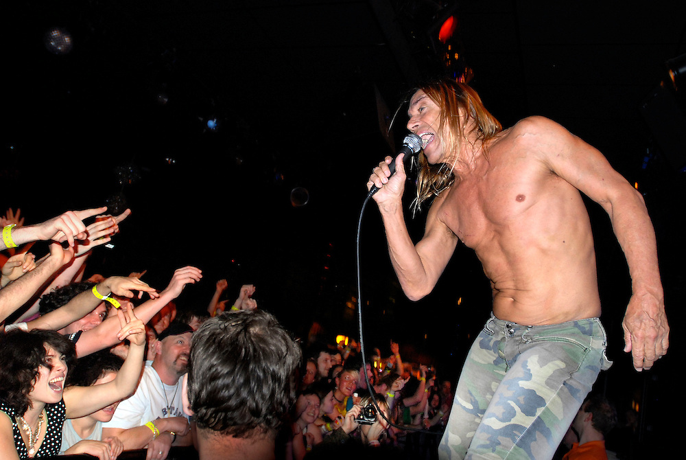 UK. Minehead. All Tomorrow's Parties 'The Nightmare Before Christmas' at the Butlins Holiday Centre, Minehead, Somerset..Photo shows Iggy Pop and The Stooges performing on Centre Stage.