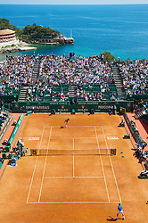 MONTE-CARLO, MONACO - Wednesday, April 14, 2010: A general view of centre court as Rafael Nadal (ESP)  take on Thiemo De Bakker (NED) during the Men's Singles 2nd Round match on day three of the ATP Masters Series Monte-Carlo at the Monte-Carlo Country Club. (Photo by David Rawcliffe/Propaganda)