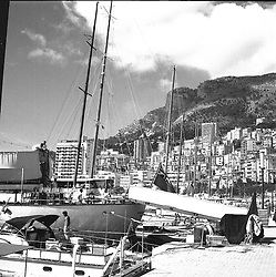 The harbour in Monaco in February 1960.