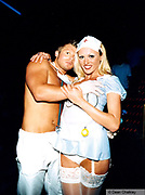 Couple dressed as a doctor and nurse Ibiza 1999