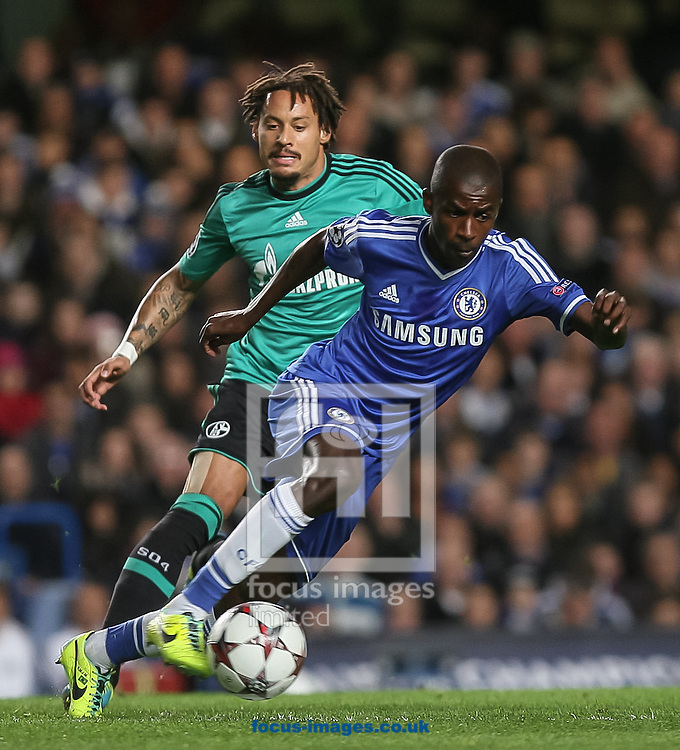 Picture by Daniel Chesterton/Focus Images Ltd +44 7966 018899<br /> 06/11/2013<br /> Jermaine Jones of FC Schalke 04 and Ramires of Chelsea compete for the ball during the UEFA Champions League match at Stamford Bridge, London.