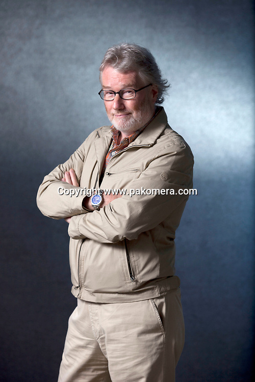 A portrait of Iain Banks at the Edinburgh International Book Festival 2012 in Charlotte Square Gardens<br /> <br /> Pic by Pako Mera