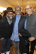 New York, NY-December 3: (L-R )Photographers Keith Major, Marc Baptiste and George Chinsee attend Harriette Cole's 20th Anniversary Business Celebration held at Lafayette 148 Headquarters on December 3, 2015 in New York City.  (Photo by Terrence Jennings/terrencejennings.com)