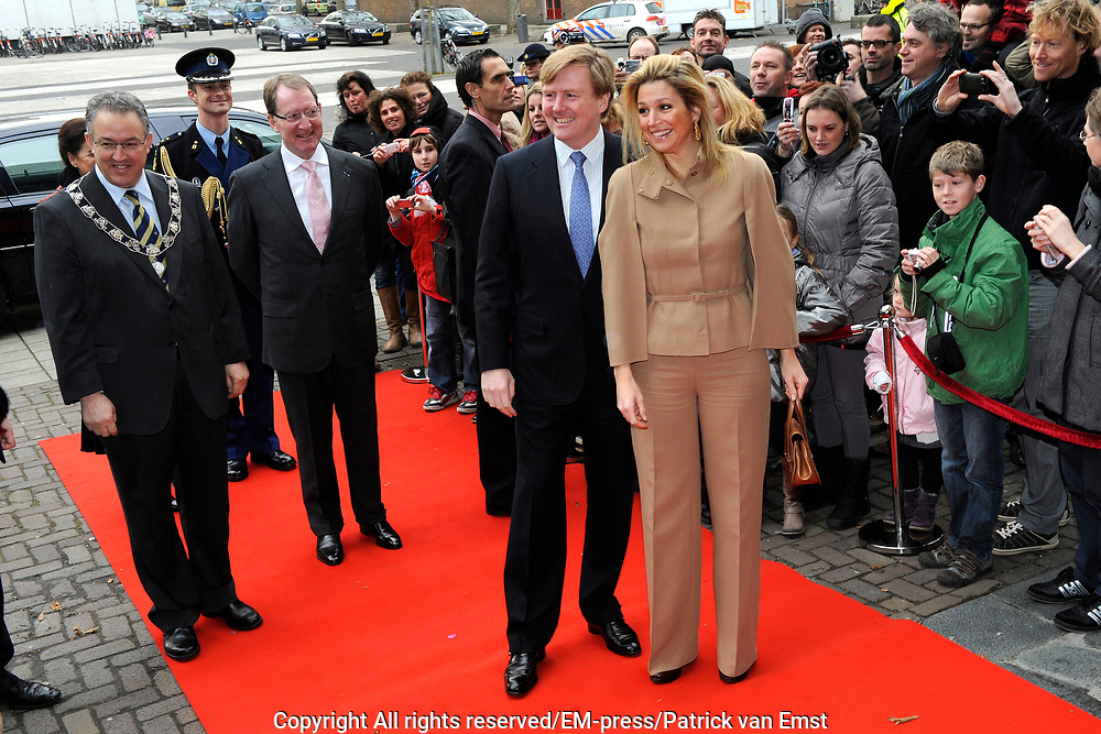 Prince and Princess of Holland attend anniversary Hofplein Rotterdam.<br />