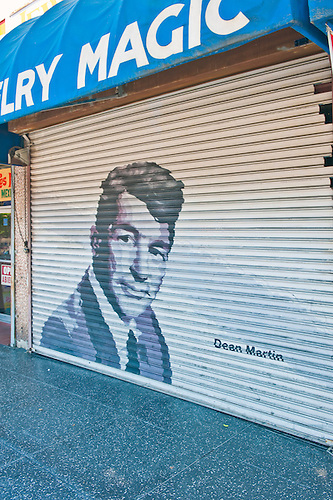 Dean Martin, Painted On Roll Up Security Door, American Singer, Film Actor  And.