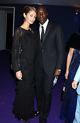 Fashion designer OZWALD BOATENG and his wife GYUNEL at The British Red Cross London Ball - H2O The Element of Life, held at The Room by The River, 99 Upper Ground, London SE1 on 17th November 2005.<br />