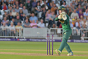 Tom Moores attempts a run out during the NatWest T20 Blast Quarter Final match between Notts Outlaws and Somerset County Cricket Club at Trent Bridge, West Bridgford, United Kingdom on 24 August 2017. Photo by Simon Trafford.