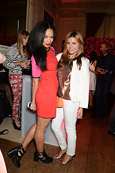 Left to right, SARAH JANE CRAWFORD and ZOE HARDMAN at the Juicy Couture - Viva La Juicy perfume Party held at Home House, Portman Square, London on 30th May 2013.