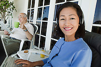 Couple Relaxing on Porch