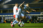 Liam Walsh of Coventry City(20) looks for a foul in the box during the EFL Sky Bet League 1 match between Coventry City and Rotherham United at the Trillion Trophy Stadium, Birmingham, England on 25 February 2020.