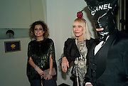 STEPHEN JONES; VIRGINIA BATES, The Surrealist Ball in aid of the NSPCC. Hosted by Lucy Yeomans and Harry Blain. Banqueting House. Whitehall. 17 March 2011. -DO NOT ARCHIVE-© Copyright Photograph by Dafydd Jones. 248 Clapham Rd. London SW9 0PZ. Tel 0207 820 0771. www.dafjones.com.