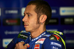 September 22, 2018 - Alcaniz, Teruel, Spain - Valentino Rossi (46) of Italy and  Movistar Yamaha MotoGP during qualifying for the Gran Premio Movistar de Aragon of world championship of MotoGP at Motorland Aragon Circuit on September 22, 2018 in Alcaniz, Spain. (Credit Image: © Jose Breton/NurPhoto/ZUMA Press)
