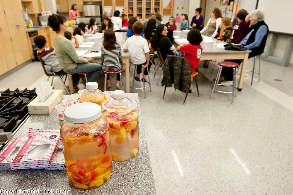 "Homemade ""Vitamin Water"" during a class by the Wellness Foundation, about healthy breakfasts at the East Hampton High School Tuesday night in East Hampton. (March 20, 2012)"