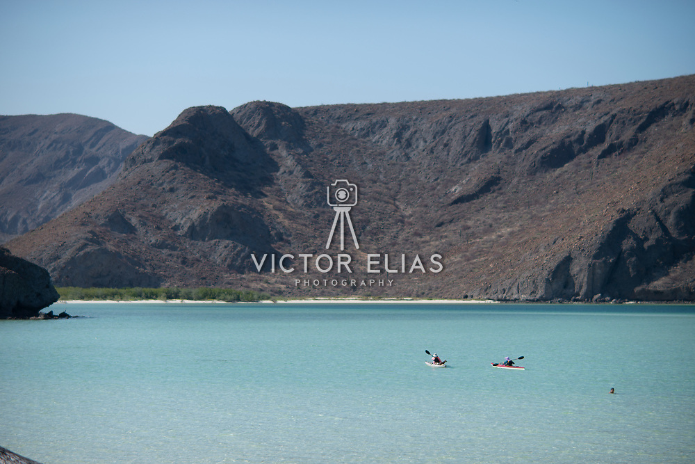 Kayakers in Balandra Bay. La Paz, BCS.