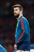 Gerard Pique of Spain warms up before the International friendly game football match between Spain and Argentina on march 27, 2018 at Wanda Metropolitano Stadium in Madrid, Spain - Photo Rudy / Spain ProSportsImages / DPPI / ProSportsImages / DPPI