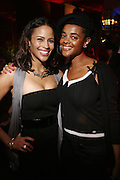 l to r: Paula Patton and Robyn Fernadez at the Robin Thicke?s Album Release ' Something Else' with Exclusive Event at Rainbow Room sponsored by Target on September 20, 2008 in New York City.